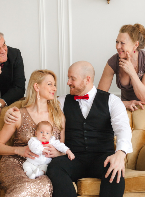 Семейная фотосъемка в студии
